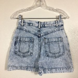 VNTG Acid Wash Jean Skort (Shorts Skirt Combo) 7/8